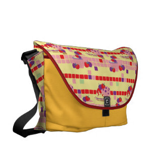 Bright Strawberry Sweet Treats Pattern Commuter Bags
