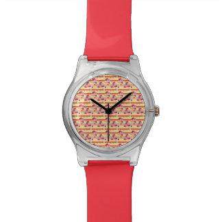 Bright Strawberry Sweet Treats Pattern Wrist Watch
