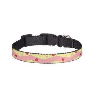 Bright Strawberry Swirl Chevron Pattern Pet Collar