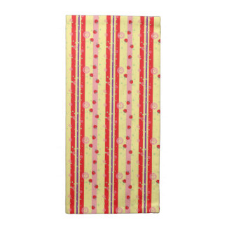 Bright Strawberry Swirl Stripes Pattern Napkin