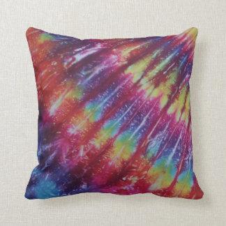 Bright Stripe Tie Dye American MoJo Pillow