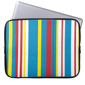Bright striped computer sleeve