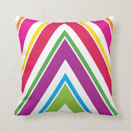 Bright Stripes  American MOJO Pillow