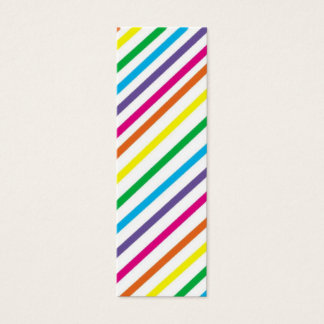 Bright Stripes  Bookmark Mini Business Card