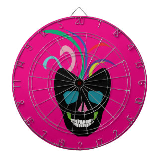 Bright Sugar Skull Dartboard