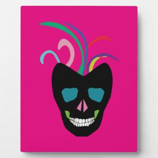 Bright Sugar Skull Display Plaque