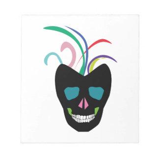 Bright Sugar Skull Notepad
