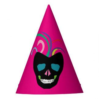 Bright Sugar Skull Party Hat