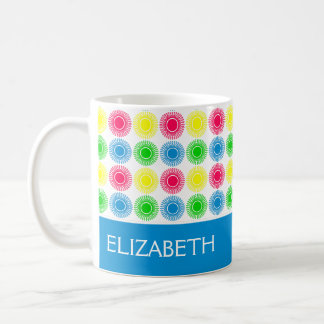 Bright Summer Bursts With Blue Personalized Coffee Mug