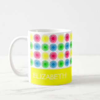 Bright Summer Bursts With Yellow Personalized Coffee Mug