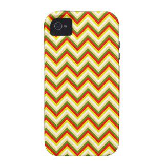 Bright Summer Chevron Zigzag Stripes Yellow Orange Case-Mate iPhone 4 Cases