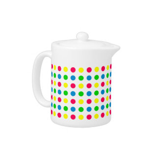 Bright Summer Polka Dots on White
