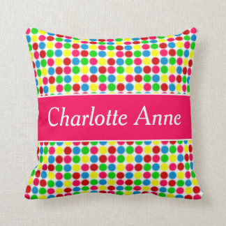 Bright Summer Small Polka Dots Personalized Cushion