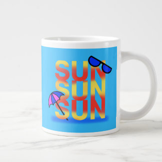 BRIGHT SUN by Slipperywindow Large Coffee Mug