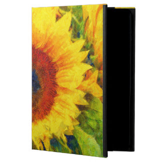 Bright Sunflower Art Cover For iPad Air