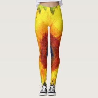 Bright Sunflower Art Leggings
