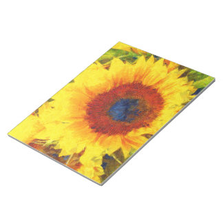 Bright Sunflower Art Notepad