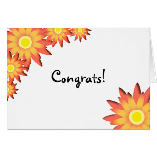Bright Sunflower Congratulations Card