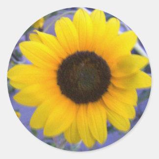 Bright Sunflower Round Sticker