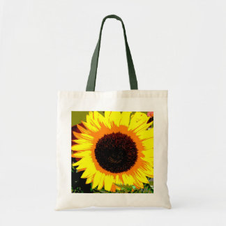 Bright sunflower tote budget tote bag