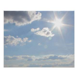 Bright Sunlight with Clouds Poster