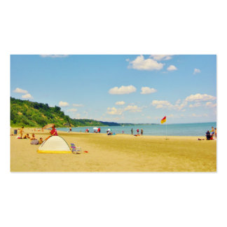 Bright Sunny Beach Day Business Cards