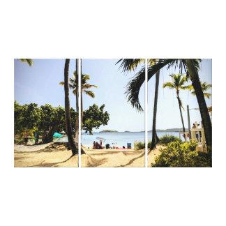 Bright Sunny Beach Scenery Canvas Print