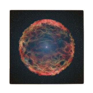 Bright Supernova, Exploding Star Wood Coaster