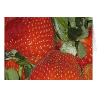 Bright sweet Strawberries Thank You Card