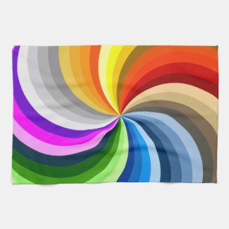 Bright swirl kitchen towel