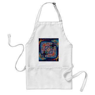 Bright  Symmetrical Pattern  unique Abstract Standard Apron