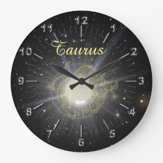 Bright Taurus Large Clock