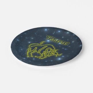 Bright Taurus Paper Plate