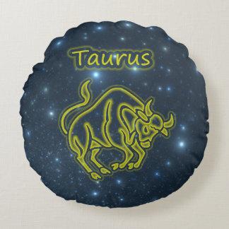 Bright Taurus Round Cushion