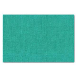 Bright Teal Burlap Texture Tissue Paper