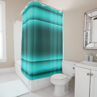 Bright Teal Shower Curtain