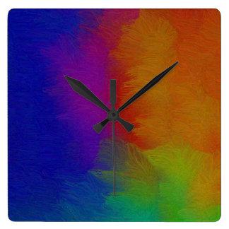 Bright Texture Square Wall Clock