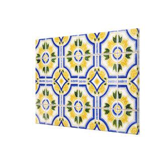 Bright tile pattern, Portugal Canvas Print