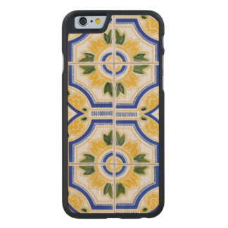 Bright tile pattern, Portugal Carved® Maple iPhone 6 Case