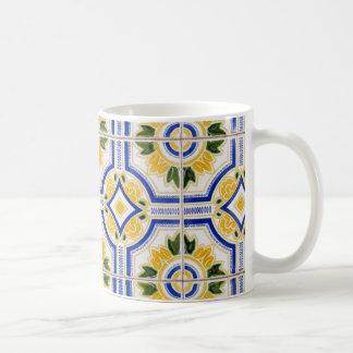 Bright tile pattern, Portugal Coffee Mug