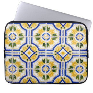 Bright tile pattern, Portugal Laptop Sleeve