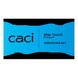 Bright Torn Aqua Pack Of Standard Business Cards