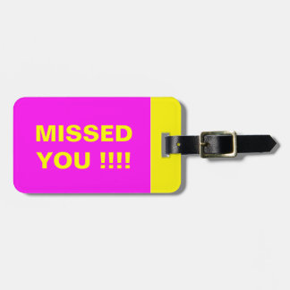 BRIGHT TRAVEL LUGGAGE TAG VIVID COLOR PINK YELLOW