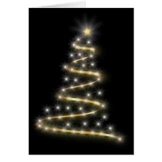 Bright Tree Lights Christmas Card