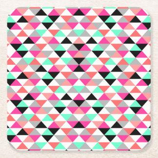 Bright Triangle Pattern Coasters
