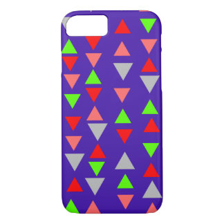 Bright Triangles on Royal Purple iPhone 7 Case
