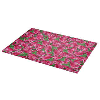 Bright Tropical Hawaiian Pink Hibiscus Flowers Cutting Boards