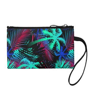 Bright tropical palms coin purse