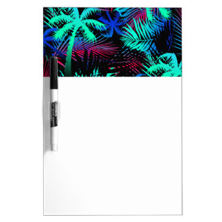 Bright tropical palms dry erase board