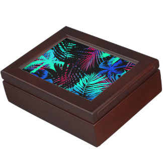 Bright tropical palms keepsake box
